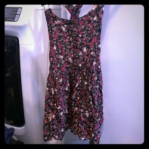 Charlotte Russe Floral Overall Dress